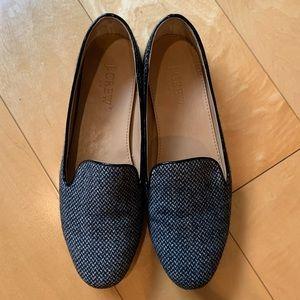 Jcrew tweed smoking slippers size 7